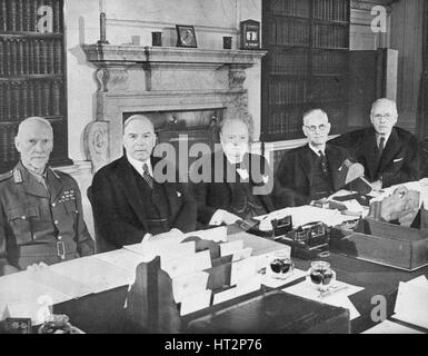 'Mr Churchill with the Commonwealth Prime Ministers', 1944 (1955). Artist: Unknown. - Stock Photo