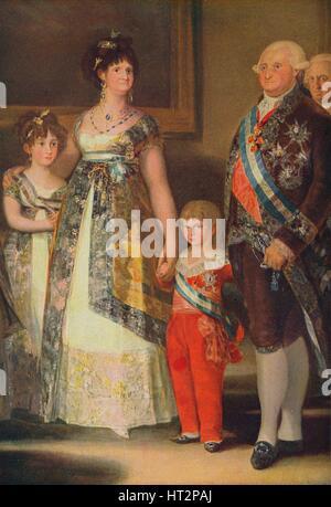 'La Familia de Carlos IV (Grupo central)', (The Family of Charles IV), 1800, (c1934). Artist: Francisco Goya. - Stock Photo