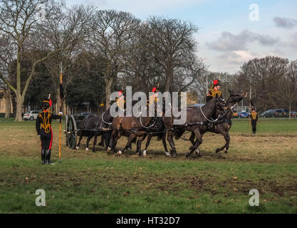 London, UK. 7th March, 2017. Kings Troop Royal Horse Artillery Annual Inspection at Woolwich Barracks,South- East - Stock Photo