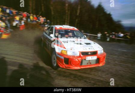 Mitsubishi Lancer Evo,Richard Burns,winner 1998 Network Q. Artist: Unknown. - Stock Photo