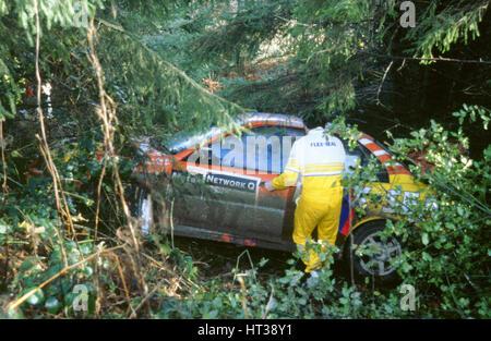 Mitsubishi Lancer Evo,G.Cox, 1998 Network Q. Artist: Unknown. - Stock Photo