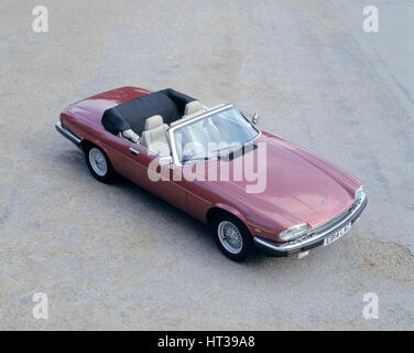 1988 Jaguar XJS V12 convertible. Artist: Unknown. - Stock Photo