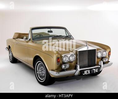1975 Rolls Royce Corniche convertible. Artist: Unknown. - Stock Photo
