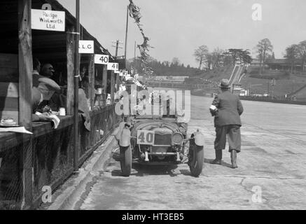 AF Ashby and R Pauing's Riley 9 Brooklands at the JCC Double Twelve race, Brooklands, 8/9 May 1931. Artist: Bill - Stock Photo