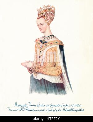 'Margaret, Queen of Scots, wife of James IV of Scots', 1912. Artist: Edmund Thomas Parris. - Stock Photo
