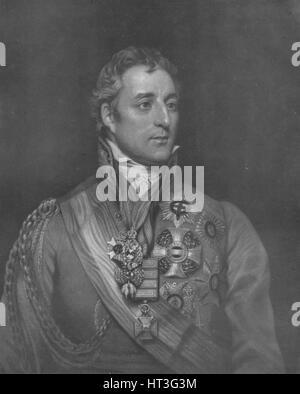'The Duke of Wellington', c1780-1830, (1909). Artist: William Say. - Stock Photo