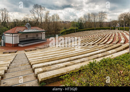 The Kelvingrove park bandstand situated in the west end area of Glasgow, Scotland. - Stock Photo