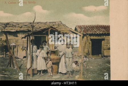 'A Cuban country family', 1908. Artist: Unknown. - Stock Photo