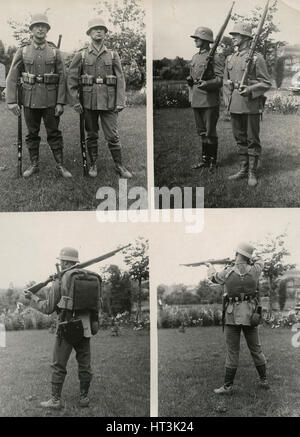 New field uniforms for the  German army, 1934.  Artist: Unknown. - Stock Photo