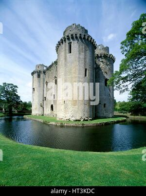 Nunney Castle, c1990-2010. Artist: Unknown. - Stock Photo