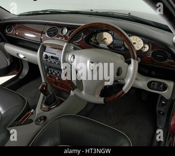 Rover 75 car interior color green with a walnut dashboard Stock ...