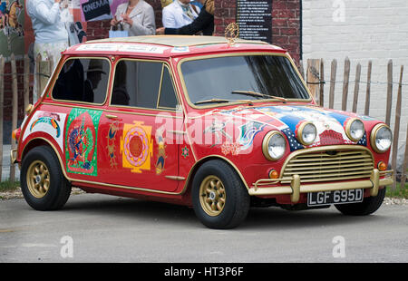 1966 Austin Mini Cooper S owned by Beatle George Harrison Artist: Unknown. - Stock Photo