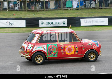 1967 Austin Mini Cooper S owned by Beatle George Harrison Artist: Unknown. - Stock Photo