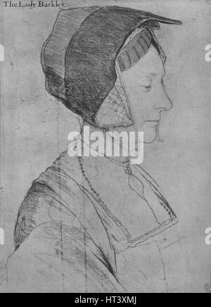 'Elizabeth Dauncey', 1526-1527 (1945). Artist: Hans Holbein the Younger. - Stock Photo