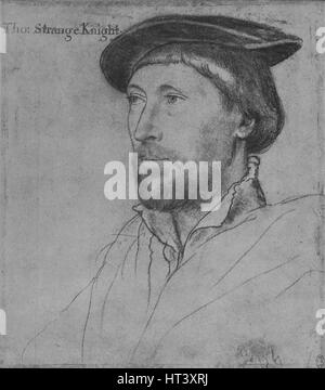 'Sir Thomas Strange', c1536 (1945). Artist: Hans Holbein the Younger. - Stock Photo