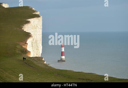 Beachy Head light house, near Eastbourne, East Sussex. UK - Stock Photo