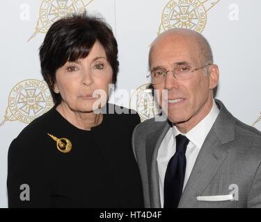 Marilyn Katzenberg and Jeffrey Katzenberg arrives at the 54th Annual International Cinematographers Guild Publicists - Stock Photo