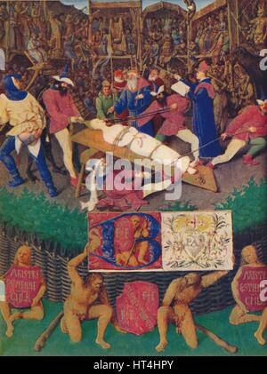 'The Martyrdom of St. Apolline', c1455, (1939). Artist: Jean Fouquet. - Stock Photo