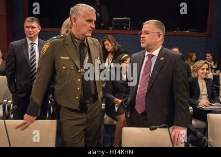 U.S. Homeland Security Director of Joint Task Force-West Paul Beeson prepares to testify before the House Homeland - Stock Photo