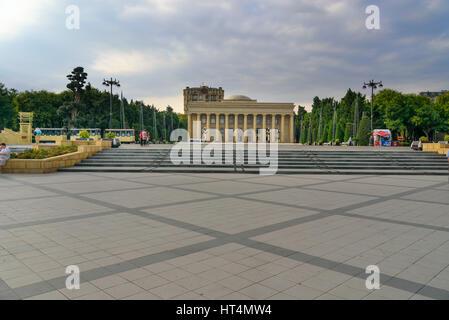 Baku, Azerbaijan - September 10, 2016: Building of Museum Centre, former Lenin Museum. Baku is the largest city - Stock Photo