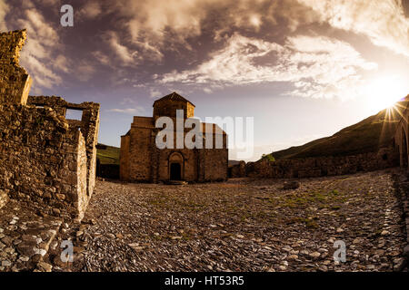 Panagia tou Sinti Monastery at sunset. Paphos District. Cyprus - Stock Photo