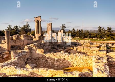 The temple of Apollo at Kourion. Limassol District, Cyprus. - Stock Photo