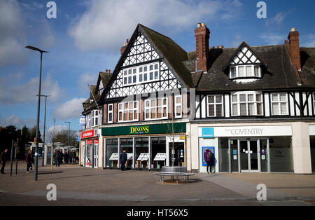 Solihull town centre, West Midlands, England, UK - Stock Photo