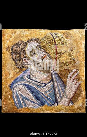 Mosaic of St Bartholomew from ' St. Bartholomew Baptises in India'.  Basilica San Marco ( St Mark's Basilica ) Venice, - Stock Photo