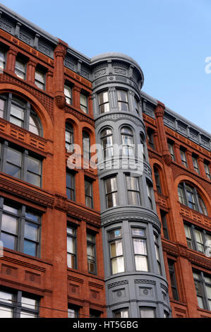 Victorian era Pioneer Building in the Pioneer Square historical district, Seattle - Stock Photo