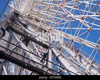 Tempozan ferris wheel. Landmark in Osaka,Japan - Stock Photo