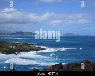 Makapuu Point, Oahu Hawaii - Stock Photo