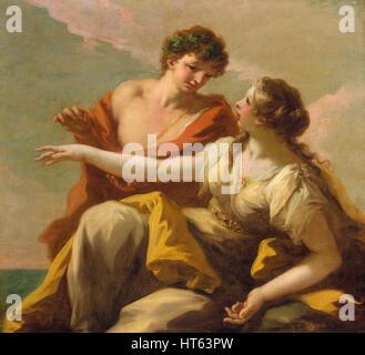 Bacchus and Ariadne by Giovanni Antonio Pellegrini - Stock Photo
