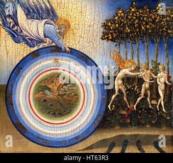 The Creation of the world and the Expulsion from Paradise by Giovanni di Paolo - Stock Photo