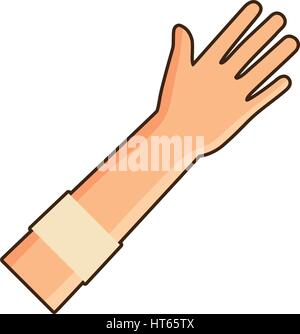 blood donation hand bandage icon - Stock Photo