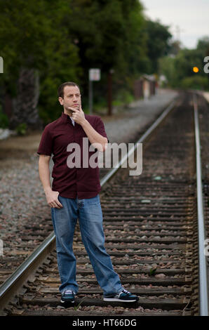 Man thinking of what tomorrow will bring. - Stock Photo