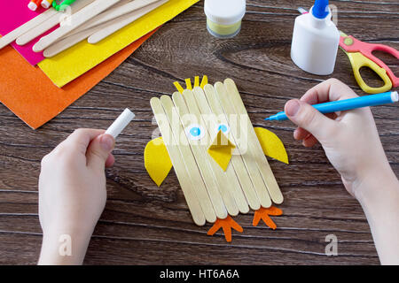 The child draws gift items childrens easter gift toy rooster and childrens easter gift toy chicken and easter bunny negle Images