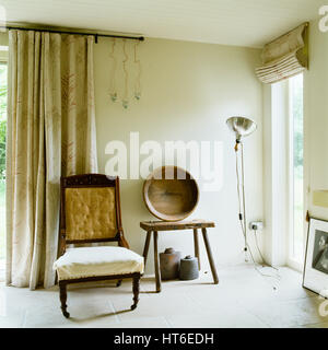 Chair and side table. - Stock Photo