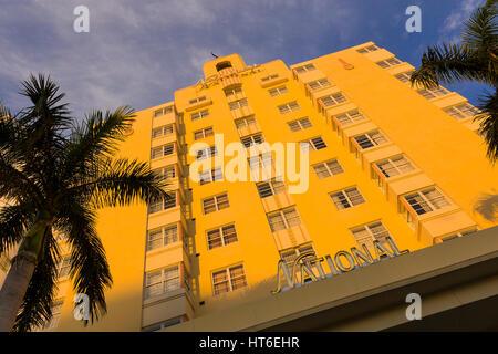 MIAMI BEACH, FLORIDA, USA - National Hotel on South Beach.