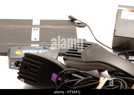 Scalextric advanced track system, C8217 Sport Power and controller with transformer. Two enhanced specification - Stock Photo