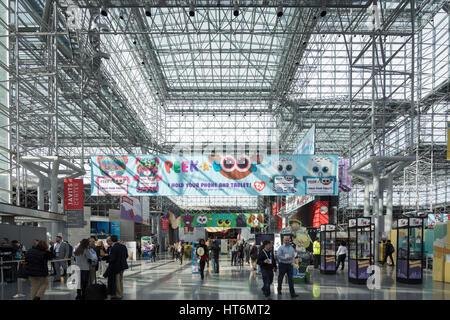 American International Toy Fair, Jacob K. Javits Convention Center, Manhattan, New York City, USA - Stock Photo