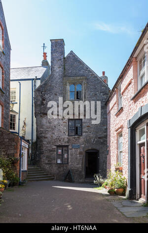 Tudor Merchant's House, Tenby, Wales, UK - Stock Photo