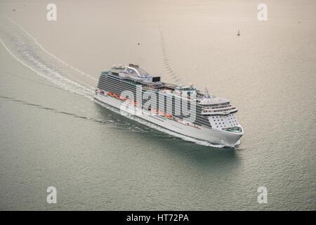 The Royal Princess sailing from Southampton, United Kingdom - Stock Photo