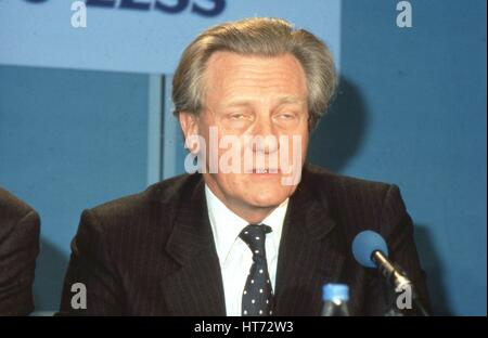 Rt. Hon. Michael Heseltine, Secretary of State for the Environment and Conservative party Member of Parliament for - Stock Photo