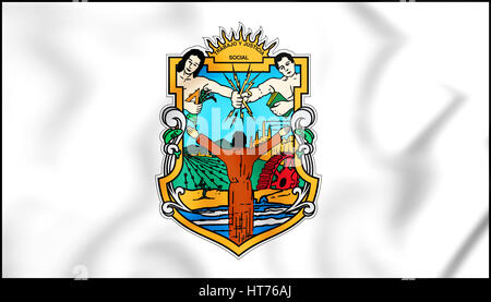 Flag Of Baja California Mexico Close Up Stock Photo 79427031 Alamy