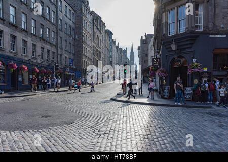 The Royal Mile in Edinburgh - Stock Photo