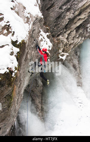 An Ice Climber In Kaprun, Austria - Stock Photo