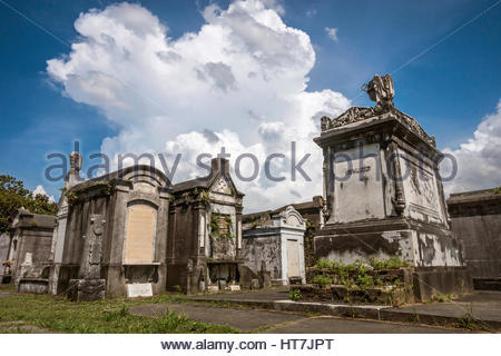 Old Graves And Mausoleums At Lafayette Cemetery Number 1 In The Garden District Of New Orleans, Louisiana, Usa - Stock Photo