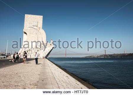 The Discoveries Monument Of Padrao Dos Descobrimentos, Lisbon, Portugal - Stock Photo