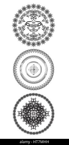 Decorative design elements. Patterns set. Vector illustration. - Stock Photo