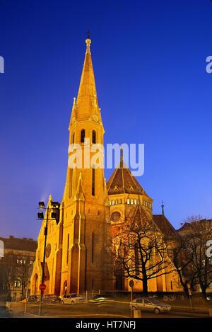 The Calvinist church (also known as 'Capuchin church') Buda, Budapest, Hungary. - Stock Photo